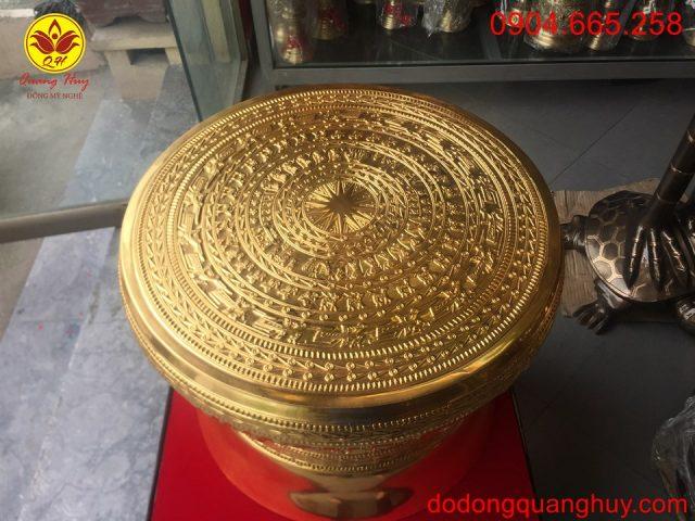 Mặt quả trống dát vàng đk 50cm